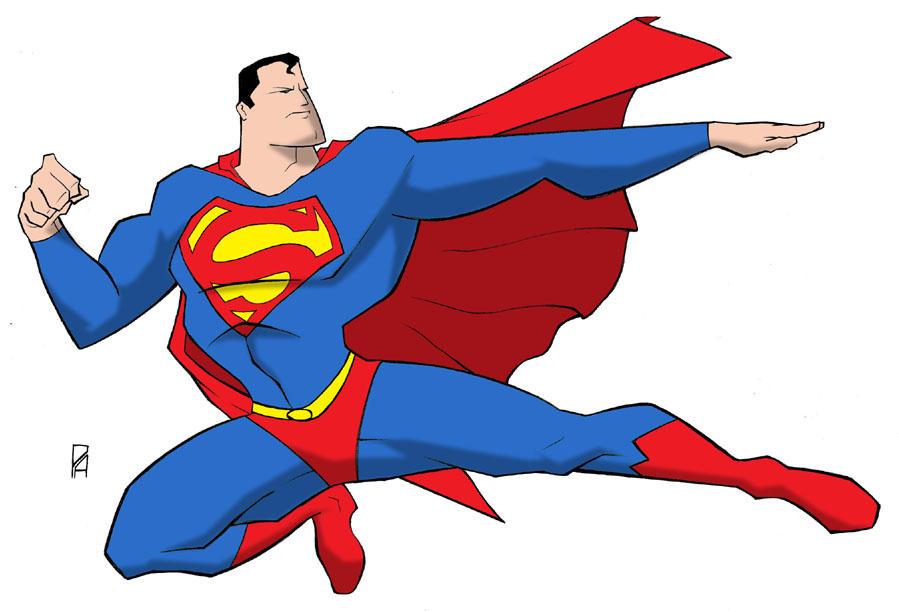 animated superman clipart - photo #15