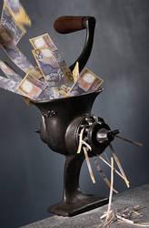 Minced Aussie Dollar by lawrencew