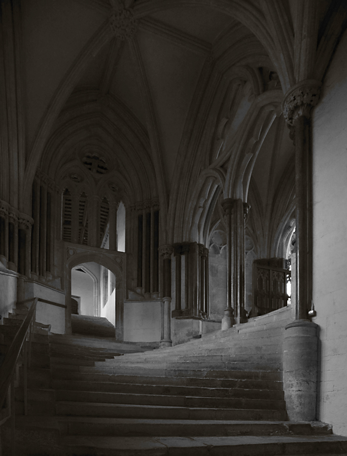 Chapter House Stairs Wells Cathedral by lawrencew