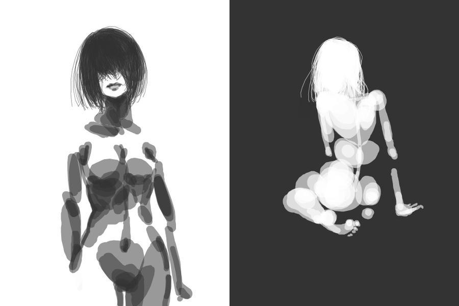 Simple Anatomy Studies Female by kyubiefox