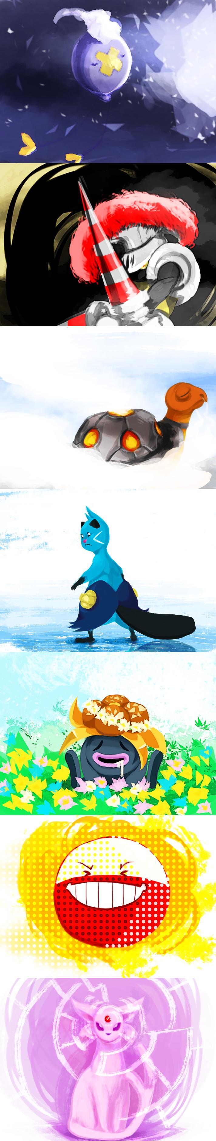 December Pokemon Challenge Week 2 by kyubiefox