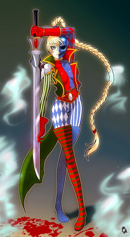 http://fc01.deviantart.net/fs31/f/2008/234/7/6/Warhammer_40K___Harley_queen_by_Tauring.jpg
