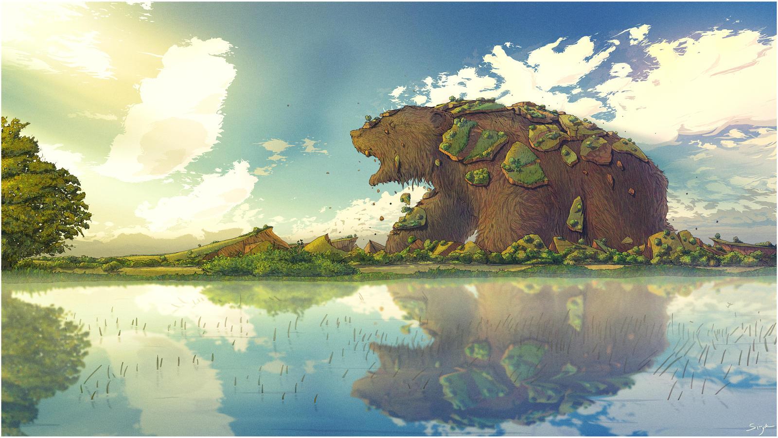Waking bear by Eugene-Siryk