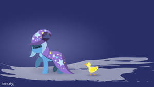 Trixie and her pet duckling