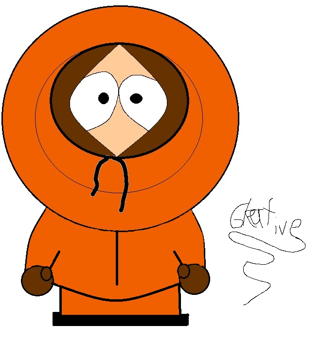 First Drawing - Kenny from South Park by Gleative