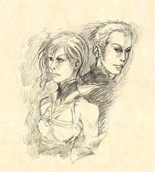 Ashe and Balthier - FFXII by LLucilla