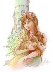 Rabbit Girl by LLucilla