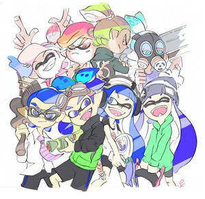 Splatoon Ilustration by Trying-to-Draw