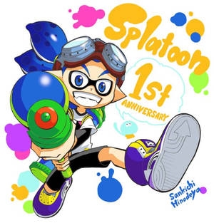 Splatoon 1st Anniversary by Trying-to-Draw
