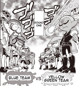 Blue Team vs Yellow Green Team by Trying-to-Draw