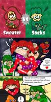 Splatoon 2 - Splatfest (Sweater vs Socks) by Trying-to-Draw