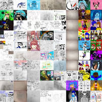 Art Dump Sketches Collage by Trying-to-Draw
