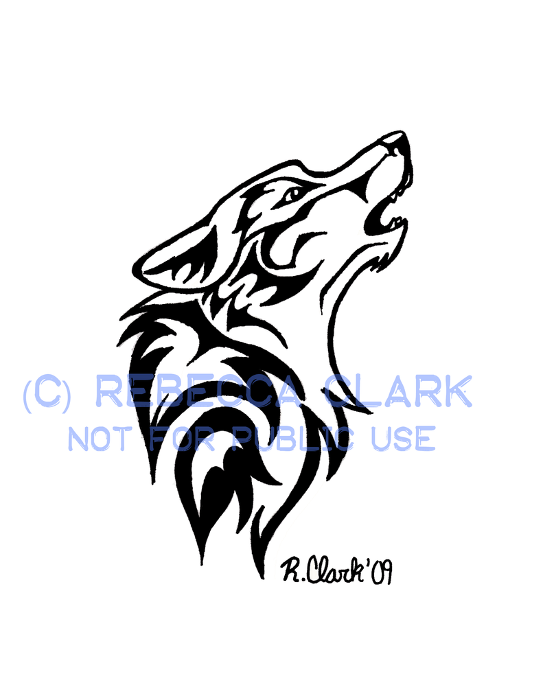 howling wolf tattoo by insaneroman on deviantart rh deviantart com wolf howling tattoo designs wolf howling tattoo sleeve