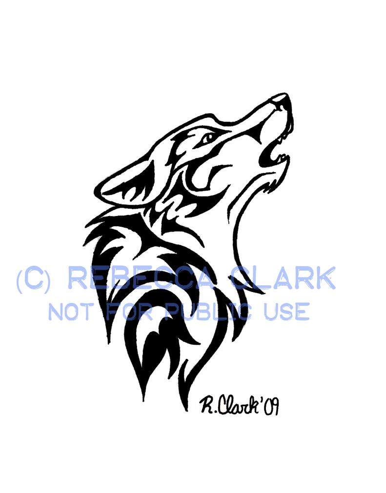 howling wolf tattoo by insaneroman on deviantart. Black Bedroom Furniture Sets. Home Design Ideas