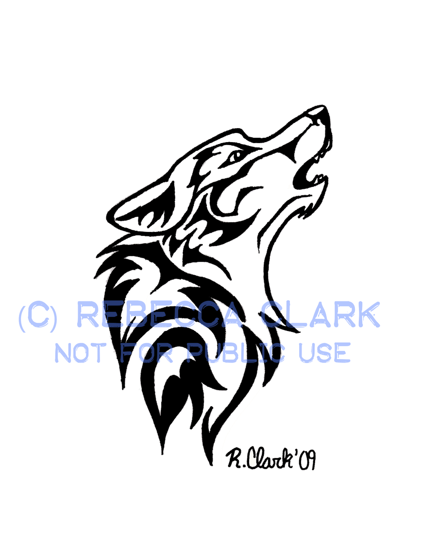 howling wolf tattoo by insaneroman on deviantart. Black Bedroom Furniture Sets. Home Design Ideas