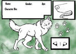 Wolf Reference Sheet Template