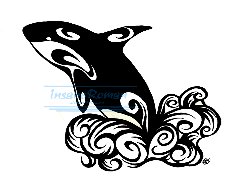 orca whale tattoo design by insaneroman on deviantart. Black Bedroom Furniture Sets. Home Design Ideas
