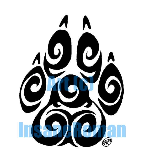 Swirl Paw Print Design by InsaneRoman