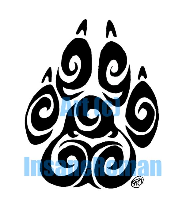 Swirl Paw Print Design by InsaneRoman