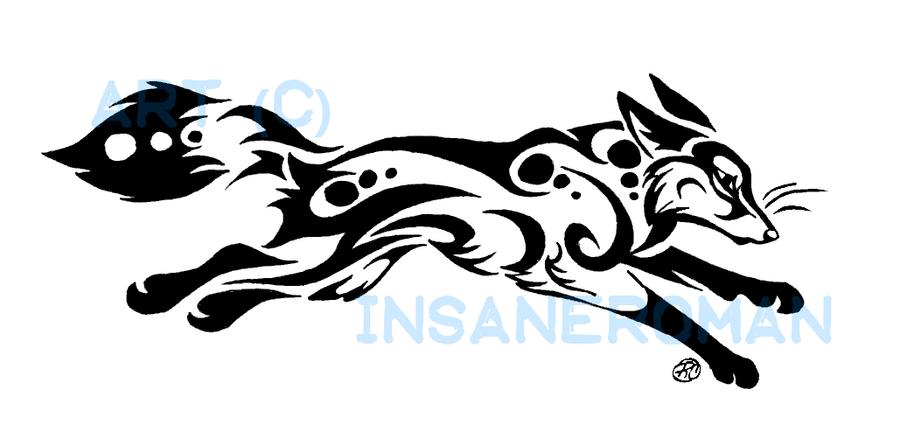 Running Fox Tattoo
