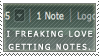 Notes Stamp Repost by InsaneRoman