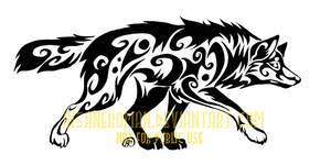 Stalking Wolf Tribal Design