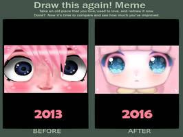 [Draw this again meme] Hell eyes