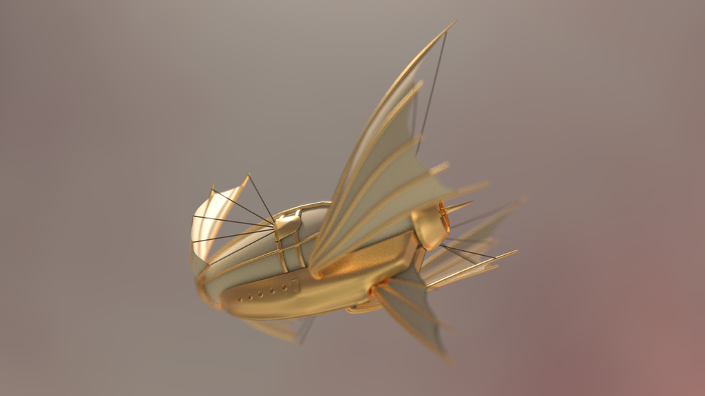 Steampunk airship by Reaperrr1