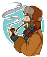 Bofur And His Pipe by Kriegswaffle