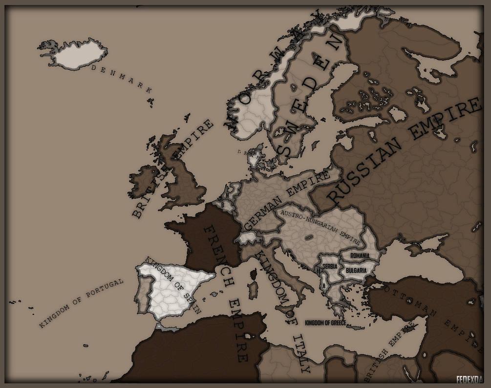 Map of Europe before World War One by FedexDA on DeviantArt