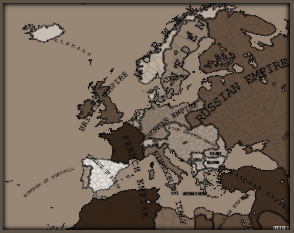 Map of Europe before World War One by FedexDA on DeviantArt