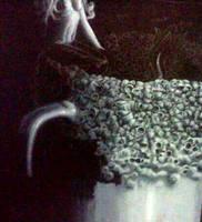 Teacup mermaid WIP - the forever lost art 3 by RainbowMoonJuice