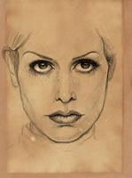 Unpleased Woman Face Sketch by RainbowMoonJuice