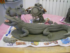 Alligator maquette