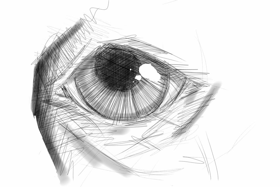 Eye sketch by mobe13