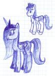 Doodle on a lesson: Sky Charles and Princess Skyla