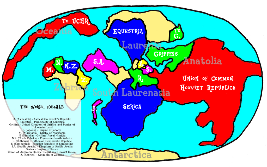 Political Map Of The World By TheCatkitty On DeviantArt - World political map 2014