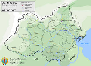 Asinestria. Physical and administrative map