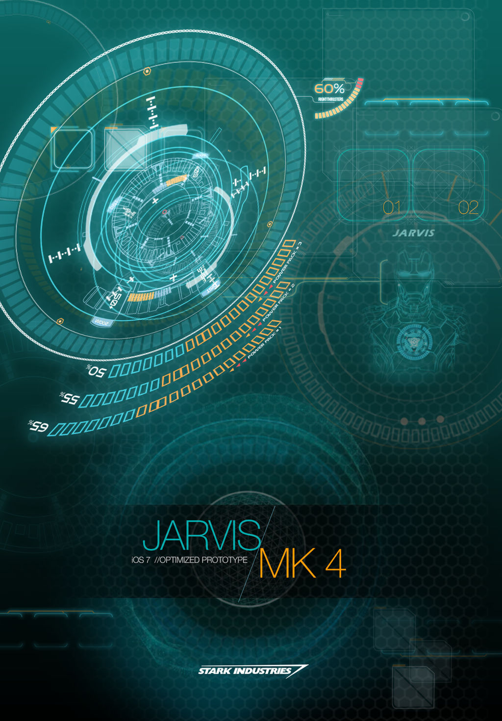 JARVIS MARK 4 - iOS 7 OPTIMIZED WALLPAPER by hyugewb on