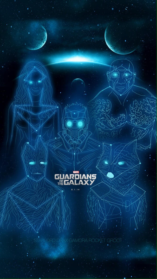 GUARDIANS OF THE GALAXY CONSTELLATION IPhone 5 C S By Hyugewb