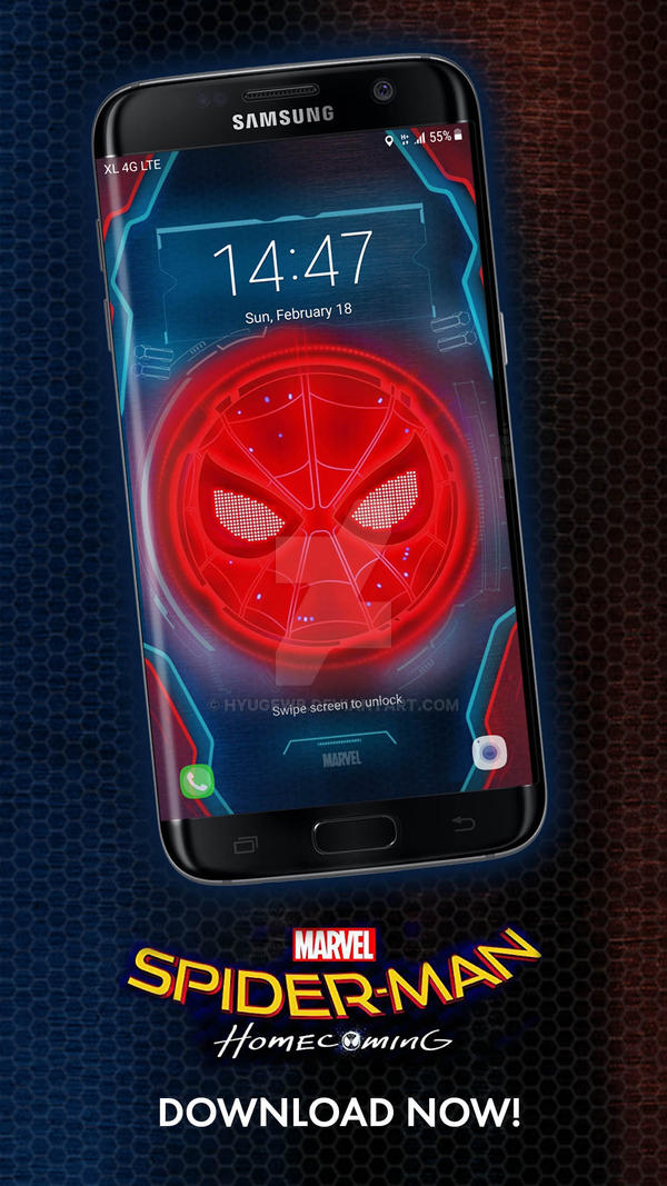 Spiderman Home Coming Samsung S7 Lockscreen By Hyugewb On Deviantart