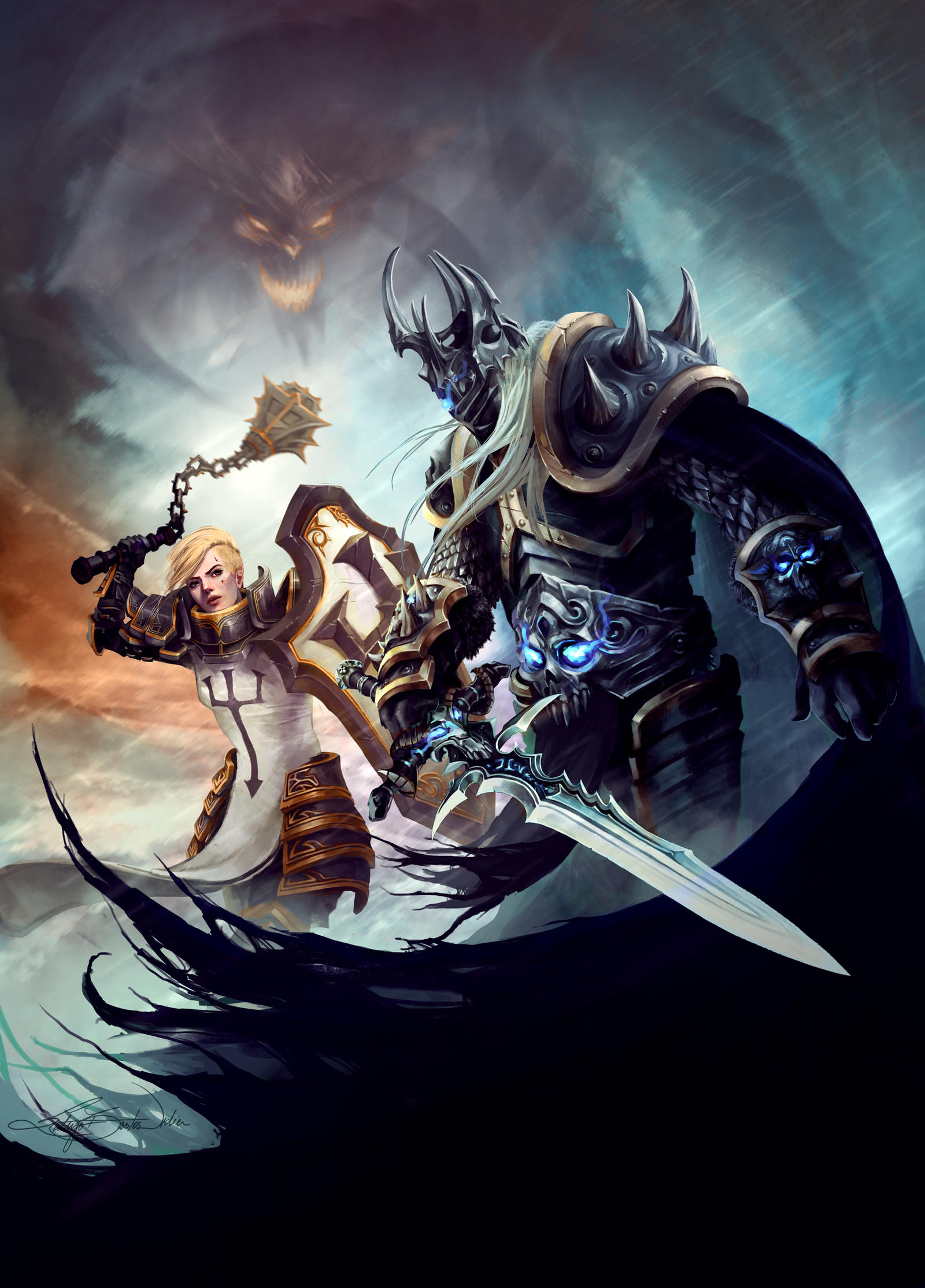 Heroes of The Storm - Johanna and Arthas by RodrigoBastos