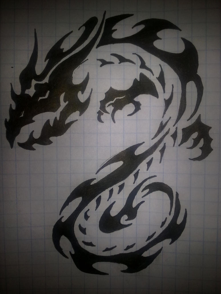 dark dragon tattoo by hyena 21 on deviantart. Black Bedroom Furniture Sets. Home Design Ideas