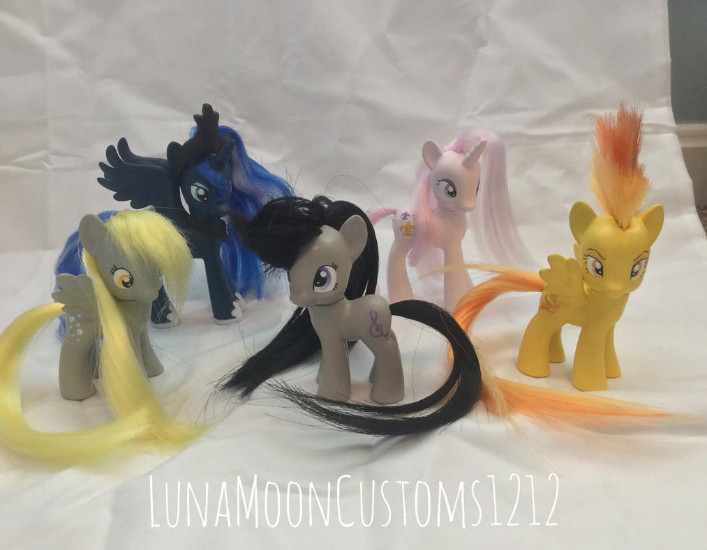 Some custom ponies by LunaMoonCustoms1212