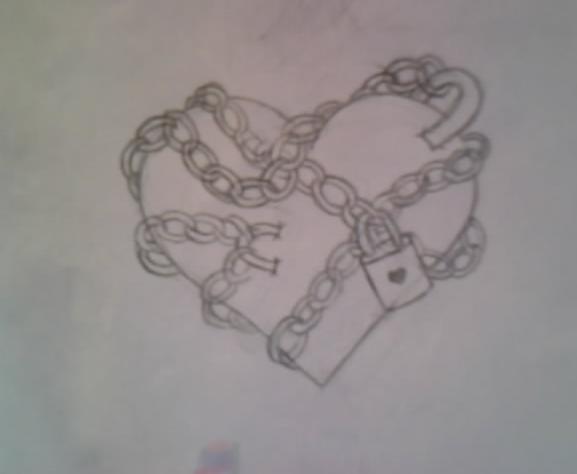 chained heart tattoo design by average sensation on deviantart. Black Bedroom Furniture Sets. Home Design Ideas