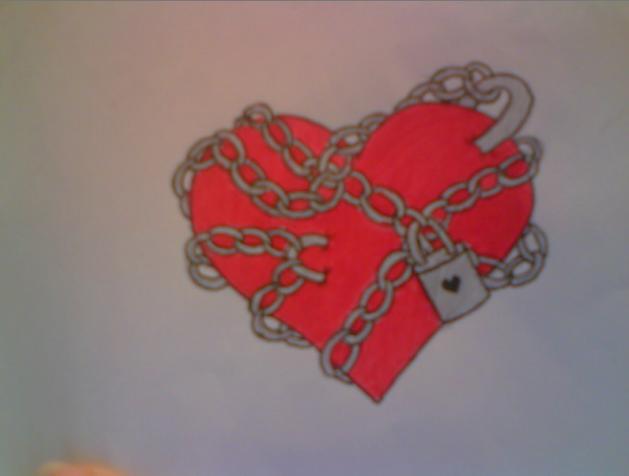 chained heart tattoo colour by average sensation on deviantart. Black Bedroom Furniture Sets. Home Design Ideas