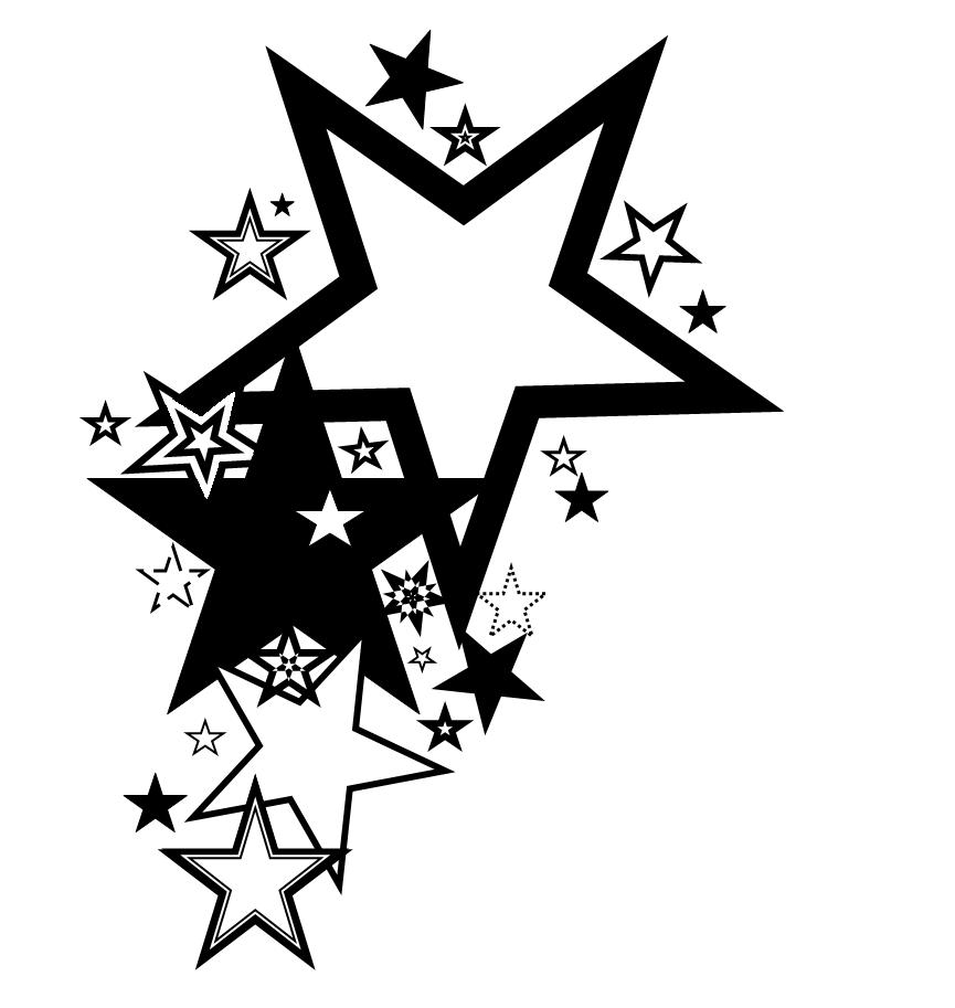 Heart Tattoo Designs With Stars Star Tattoo Design by Average