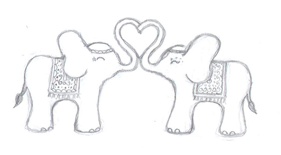 Elephant Love Art Elephant Love by