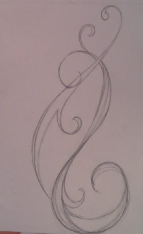 Swirl tattoo design by average sensation on deviantart for Swirl tattoo designs