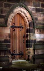 Church Door by Ravven-Stock